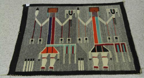 "Navajo Yei Pictorial Rug c.1920s 34"" x 30"""