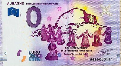 Euro Krippe (Geldschein 0 Null Euro Souvenir Touristische Aubagne die Krippenfigur Provence)