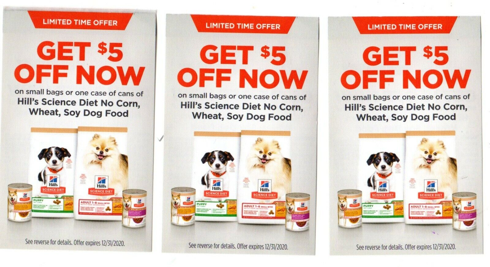 3 5 Off Hill s Science Diet No Corn, Wheat, Soy Dog Food Coupons - $3.49