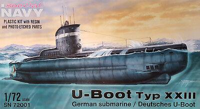 SPECIAL NAVY SN72001 WWII German U-Boot Type XXIII in 1:72