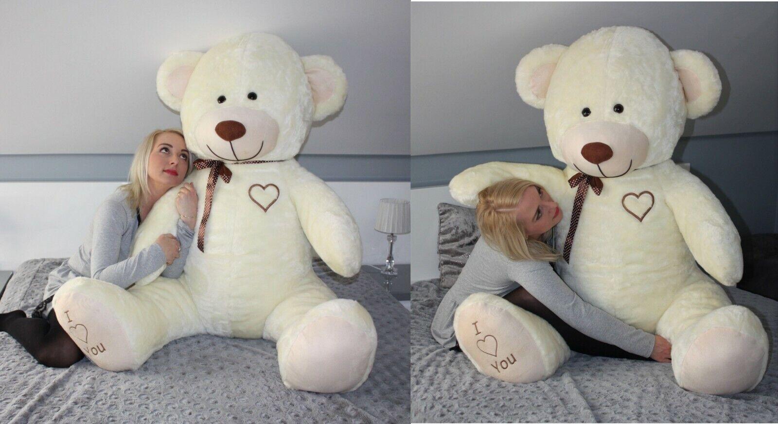 XXL Teddybär Plüsch Kuschel Stoff Tier Riesen Teddy Bär Valentinstag Geschenk XL Beige