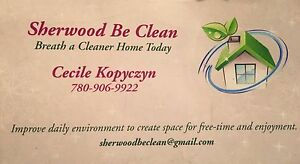 Sherwood Be Clean | Personal Cleaning Service | Seeking Clients Strathcona County Edmonton Area image 1