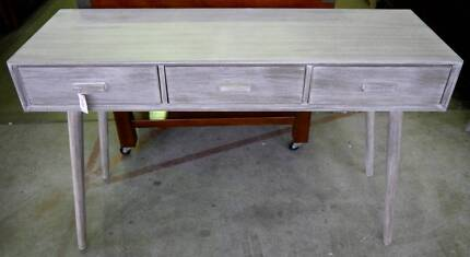 New Oslo Scandi Rustic Style Timber Console Hall Table 3 Drawers