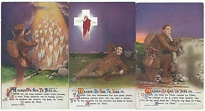 "BAMFORTH - ""NEARER MY GOD TO THEE"" Set of 3 Song Card Postcards  4967.1/3"