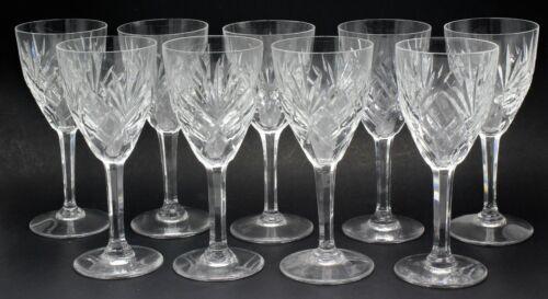 Saint Louis (French Crystal) Wine Glasses | 9 Piece Set