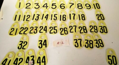 Lot of 39- Vintage Cattle/ Livestock Ear Marking Tag Plastic