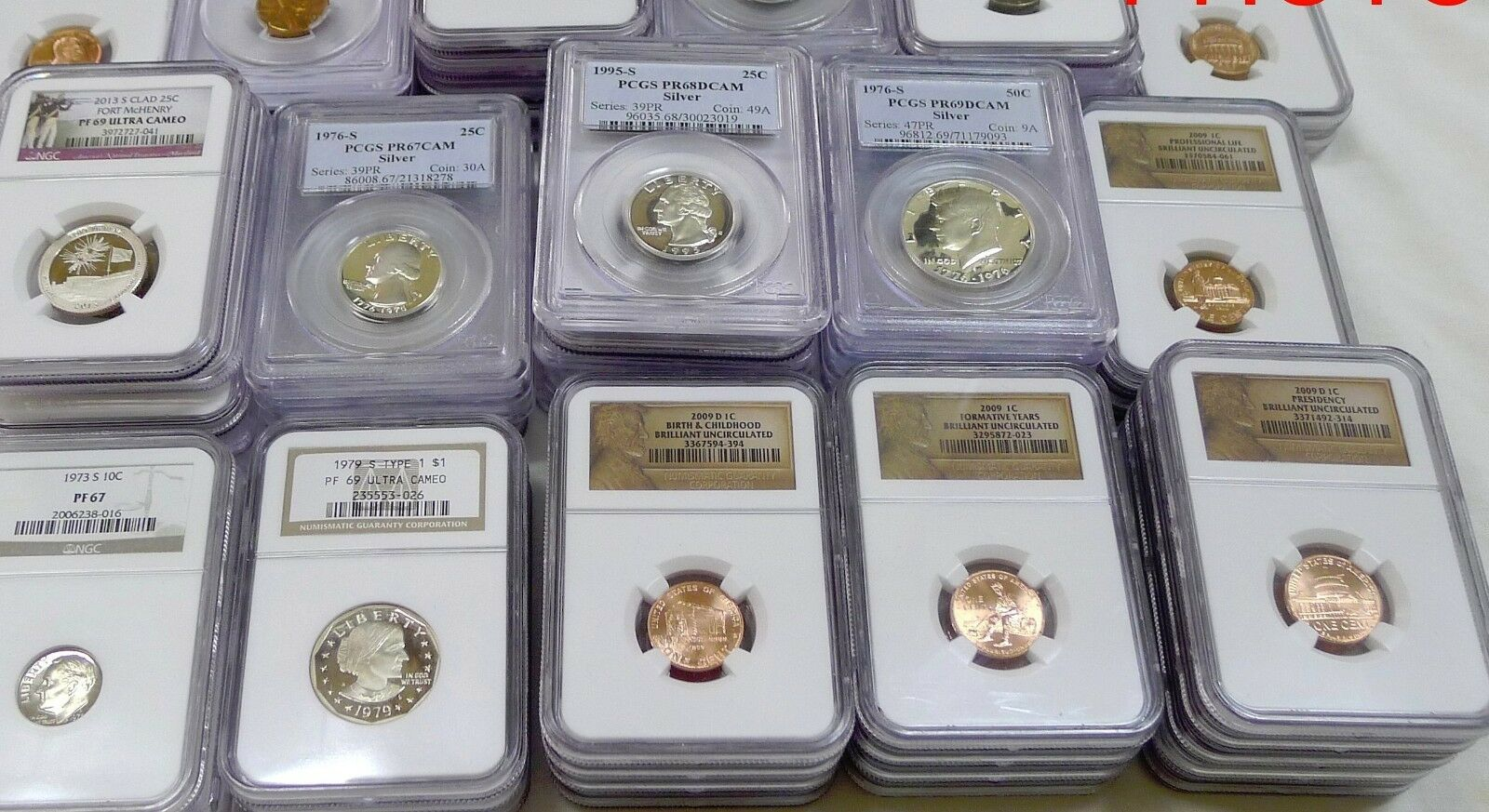 GIGANTIC 100 COIN ESTATE LOT! NGC,PCGS,GOLD,SILVER,CURRENCY,ROLLS,ANTIQUE,MORE!