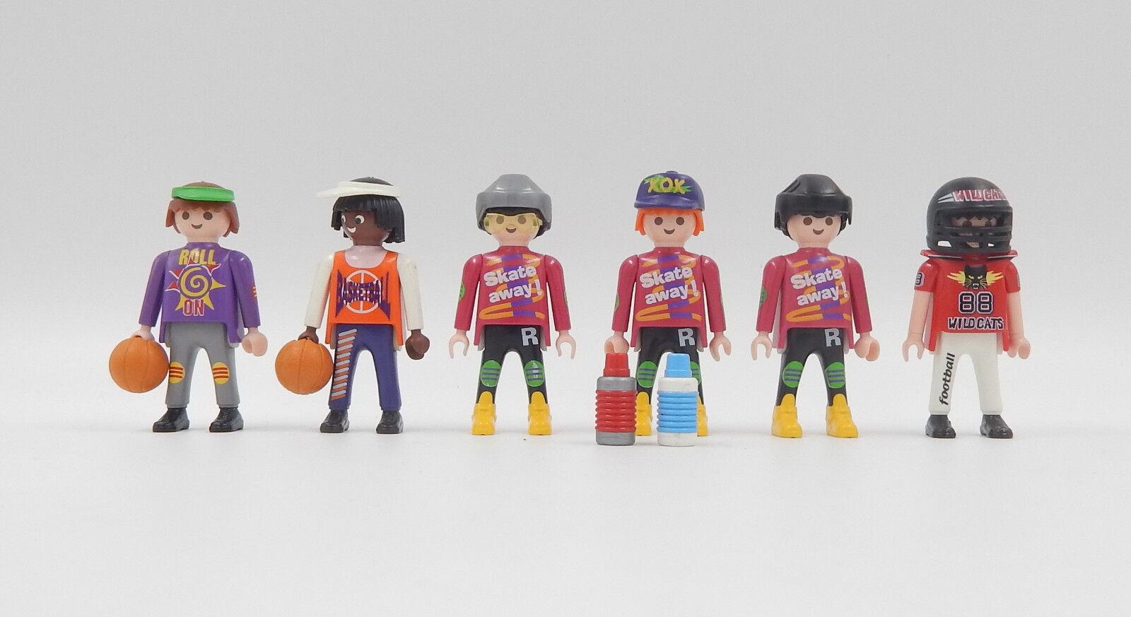 Playmobil Freizeit & Sport Figuren Basketball Football Skate