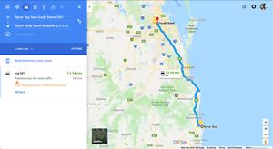 Byron to Brisbane (Tuesdays) & Brisbane to Byron (Wednesdays)