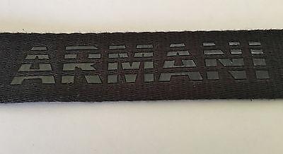 ARMANI EXCHANGE Mens Logo Web Belt in Black Automatic Buckle Size 36