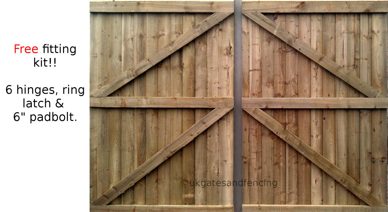 Wooden driveway Gates, Garden gates,Double Gates,Featheredge Gates  Heavy Duty