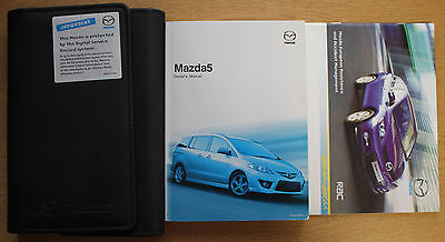 MAZDA 5 HANDBOOK OWNERS MANUAL WALLET 2005-2008 PACK 14570