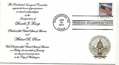 2017 Donald J Trump Panda Cachets, design 2, Invitation  Inauguration Day Cover