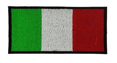 Italian Flag Patches (ITALIA ITALY ITALIAN NEW FLAG PATCH patches backpack BADGE IRON ON EMBROIDERED)