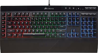 CORSAIR - K55 Wired Gaming Membrane Keyboard with RGB Backlighting - Black