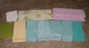 Bath towels,hand towels,face clothes,pot holders