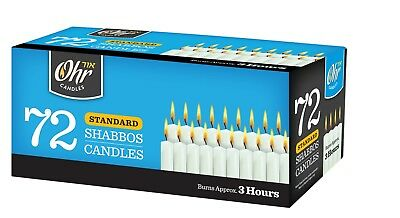 White taper candles - Shabbat Candles  - Taper Candle