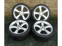 "18"" alloy wheels tyres 5x114.3 Honda S2000 Staggered"