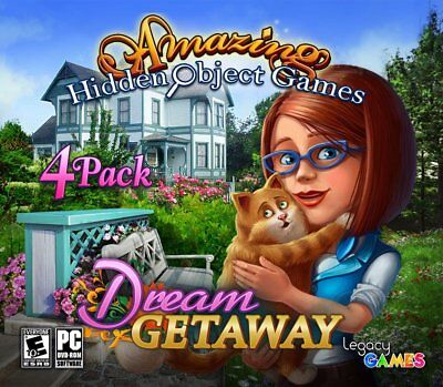 Computer Games - Amazing Hidden Object Games Dream Getaway PC Games Windows 10 8 7 XP Computer