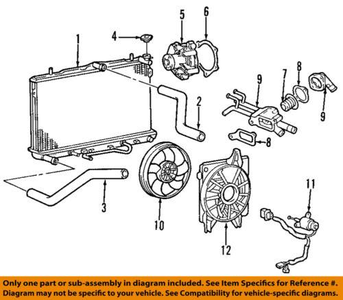 hyundai oem 96-12 elantra-engine coolant thermostat 2550023010   ebay  ebay