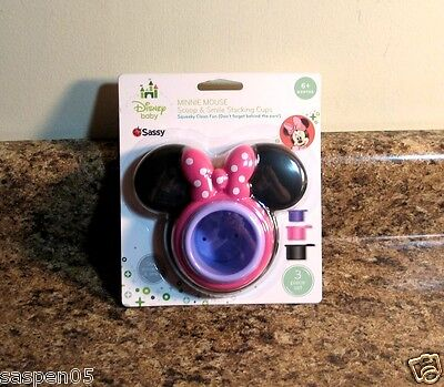 Sassy Disney Minnie Scoop and Smile Stacking Cups Bath Toy