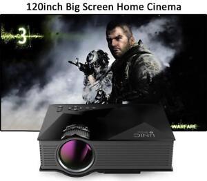 "4in1DEAL Excelvan UC46 Projector WIFI +FREE (84 ""16:9 HD Screen Save$59.95)+Free 2 Pair BT headphones SAVE $79.95"
