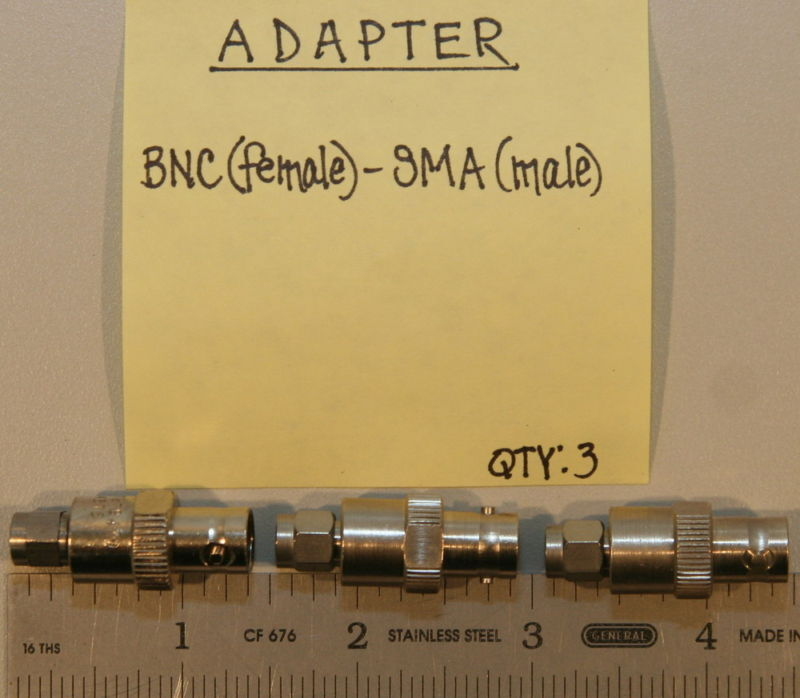 (3) BNC(Female) to SMA(Male) Adapters