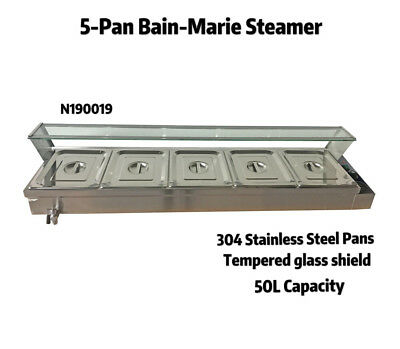 110v 5-pan Commercial Bain-marie Buffet Food Warmer Steam Table Warmers Steamer