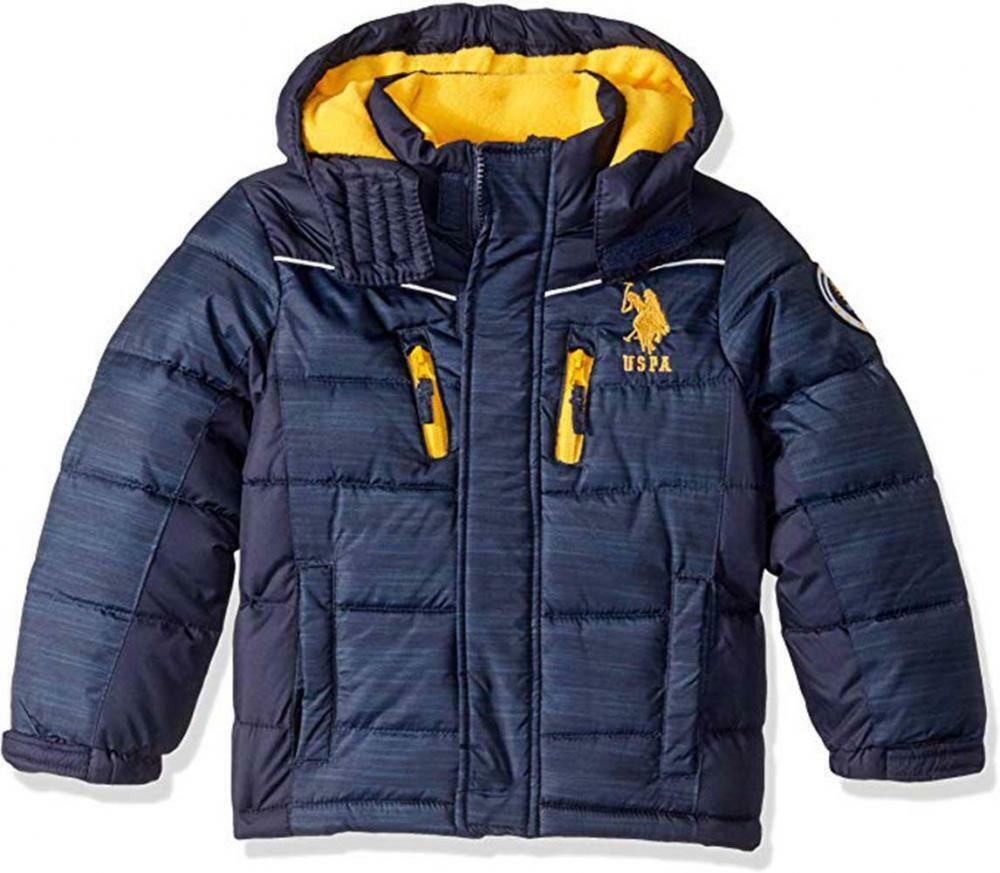 Big Boys Navy Blue Bubble Jacket Size 8 10//12 14//16 Polo Assn U.S