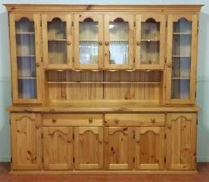 LARGE PINE BUFFET & HUTCH Coopers Plains Brisbane South West Preview