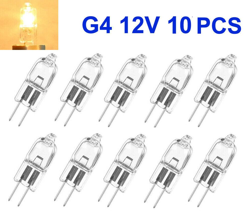 10x Halogen-Lampe G4 12V 10W/20W Stiftsockel leuchtmittel JC Clear Deutsche Post