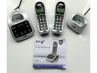 BT4500 Two Cordless phones with answering machine