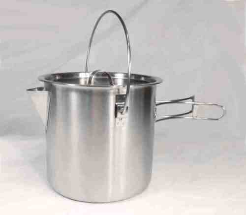 52 / 68 Ounce Stainless Steel Camping Pot Cooking Kettle - Perfect Bushcraft Pot