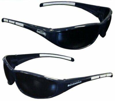 NFL Licensed Seattle Seahawks Sunglasses Unisex UV Protection Sleek Wrap for sale  Las Vegas