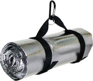EMERGENCY OUTDOOR HEAT REFLECTIVE SURVIVAL BLANKET - Good to keep one handy in your trunk!!