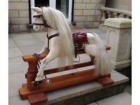 Craftsman Made White Swing Rocking Horse, Solid Pine Stand, BA2 2UT