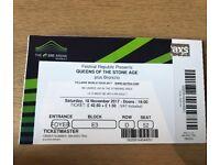 Queens of the Stoneage Ticket. London - Saturday 18th Nov