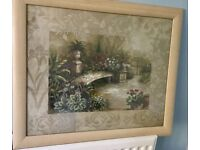 Framed Garden Print by Vivian Flasch Measurements 23in/58cm x 19in/48cm