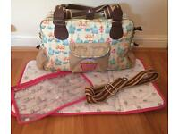 Yummy Mummy Changing Bag with Accessories- birdcage design