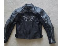Ladies Dainese Grey and Black Summer/Winter Motorbike Leather Jacket. . size 42