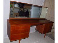 Mid century teak veneer dressing table