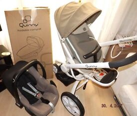 quinny moodd pram , with baby nest and raincover , g.w.o.