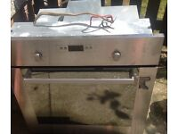 Whirlpool stainless steel built in oven. Electric, For spares or repair, thermostat not working.