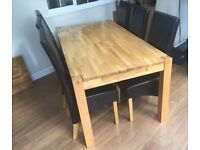 The Verona 180cm solid oak dining table