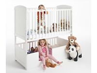 Children bunk bed & 'bunkcot' cot, 3-in-1 ideal for 2 kids and/or babies, including 2 mattresses