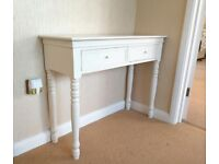 White hall console table sale for only £30