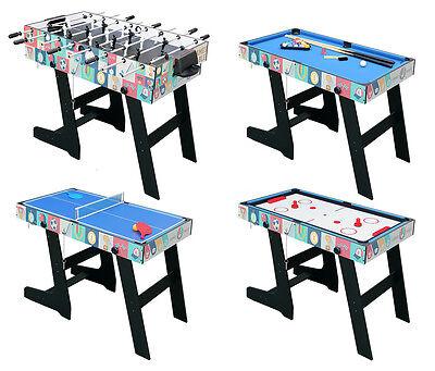 4FT 4in1 Game Table With Folding Legs-Pool/AirHockey/TableTennis/FootballTable