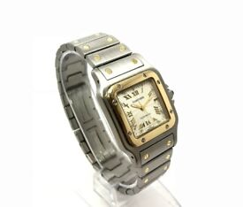 CARTIER SANTOS GALBEE 2319 18K GOLD & STEEL TWO TONE AUTOMATIC 29MM WATCH