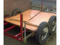 Plant flatbed car trailer project