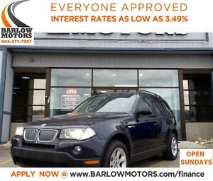 2007 BMW X3 3.0i**AMVIC INSPECTION & CARPROOF PROVIDED!